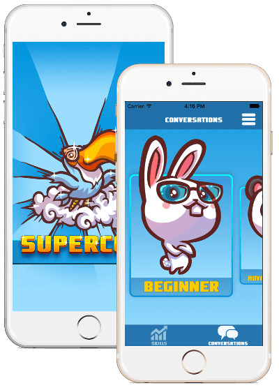 Mockups of iPhone with SuperCoco